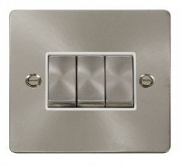 Scolmore Click Define FPBS413WH Ingot 10AX 3 Gang 2 Way Switch - White