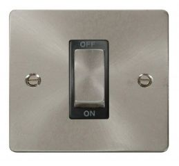 Scolmore Click Define FPBS500BK 1 Gang 45A Ingot DP Switch - Black