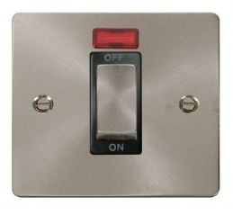 Scolmore Click Define FPBS501BK 1 Gang 45A Ingot DP Switch + Neon - Black