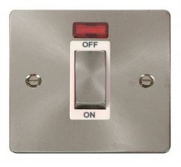 Scolmore Click Define FPBS501WH 1 Gang 45A Ingot DP Switch + Neon - White