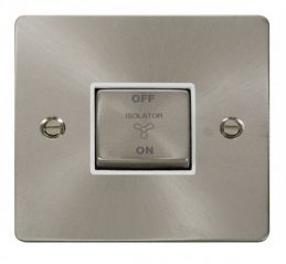 Scolmore Click Define FPBS520WH Ingot 10A 3 Pole Fan Isolation Switch - White
