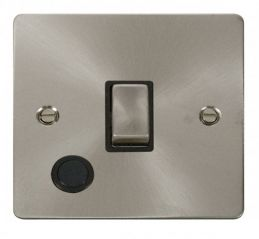 Scolmore Click Define FPBS522BK Ingot 20A 1 Gang DP Switch + Flex Outlet - Black