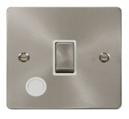 Scolmore Click Define FPBS522WH Ingot 20A 1 Gang DP Switch + Flex Outlet - White