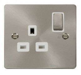 Scolmore Click Define FPBS535WH Ingot 1 Gang 13A DP Switched Socket - White