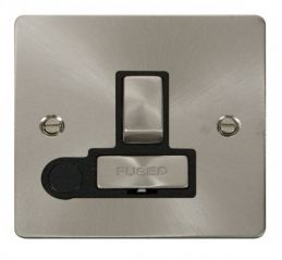 Scolmore Click Define FPBS551BK Ingot 13A Switched Connection Unit + Flex Outlet - Black