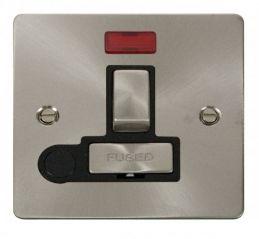 Scolmore Click Define FPBS552BK Ingot 13A Switched Connection Unit + Flex Outlet + Neon - Black