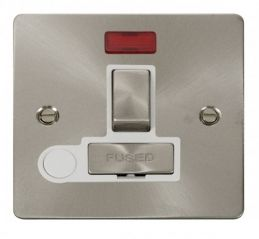Scolmore Click Define FPBS552WH Ingot 13A Switched Connection Unit + Flex Outlet + Neon - White