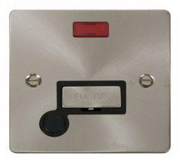 Scolmore Click Define FPBS553BK Ingot 13A Connection Unit + Flex Outlet + Neon - Black