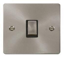 Scolmore Click Define FPBS722BK Ingot 20A 1 Gang DP Switch - Black