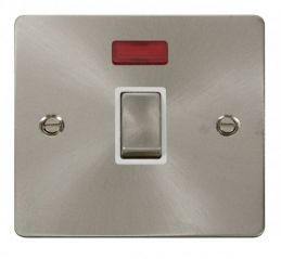Scolmore Click Define FPBS723WH Ingot 20A 1 Gang DP Switch + Neon - White