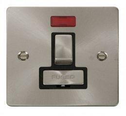 Scolmore Click Define FPBS752BK Ingot 13A Switched Connection Unit + Neon - Black