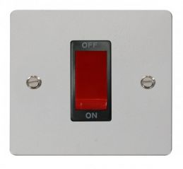 Scolmore Click Define FPCH200BK 1 Gang 45A DP Switch - Black
