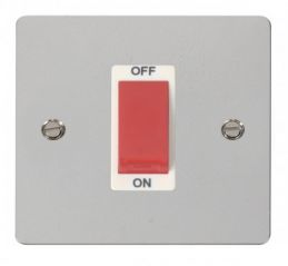 Scolmore Click Define FPCH200WH 1 Gang 45A DP Switch - White