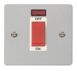 Scolmore Click Define FPCH201WH 1 Gang 45A DP Switch + Neon - White