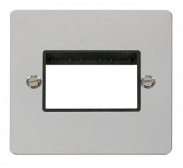 Scolmore Click Define FPCH403BK 1 Gang Plate Triple Switch Aperture - Black