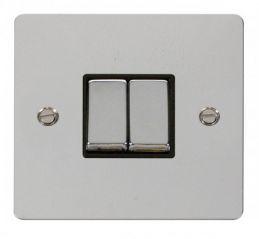 Scolmore Click Define FPCH412BK Ingot 10AX 2 Gang 2 Way Switch - Black