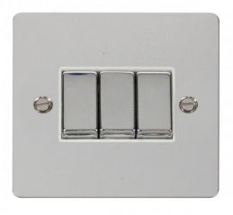Scolmore Click Define FPCH413WH Ingot 10AX 3 Gang 2 Way Switch - White