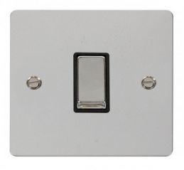 Scolmore Click Define FPCH425BK Ingot 10AX 1 Gang Intermediate Switch - Black