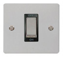 Scolmore Click Define FPCH500BK 1 Gang 45A Ingot DP Switch - Black