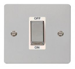 Scolmore Click Define FPCH500WH 1 Gang 45A Ingot DP Switch - White