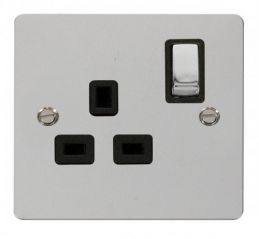 Scolmore Click Define FPCH535BK Ingot 1 Gang 13A DP Switched Socket - Black