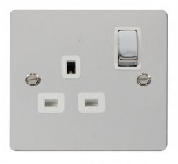 Scolmore Click Define FPCH535WH Ingot 1 Gang 13A DP Switched Socket - White