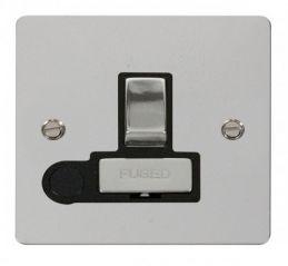 Scolmore Click Define FPCH551BK Ingot 13A Switched Connection Unit + Flex Outlet - Black