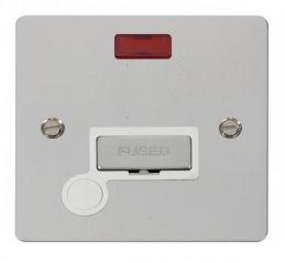 Scolmore Click Define FPCH553WH Ingot 13A Connection Unit + Flex Outlet + Neon - White