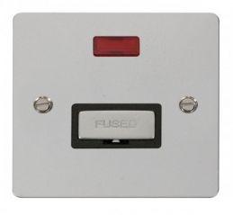 Scolmore Click Define FPCH753BK Ingot 13A Connection Unit + Neon - Black