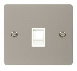 Scolmore Click Define FPPN115WH Single RJ11 Socket (Ireland/USA) - White