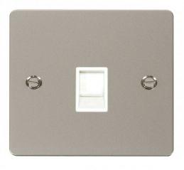 Scolmore Click Define FPPN115WH Single RJ11 Socket (Ireland/USA) - White