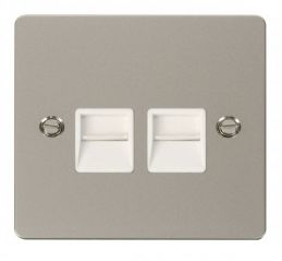 Scolmore Click Define FPPN121WH Twin Telephone Socket Master - White