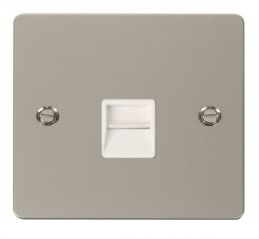 Scolmore Click Define FPPN125WH Single Telephone Socket Secondary - White