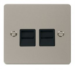 Scolmore Click Define FPPN126BK Twin Telephone Socket Secondary - Black