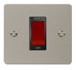 Scolmore Click Define FPPN200BK 1 Gang 45A DP Switch - Black
