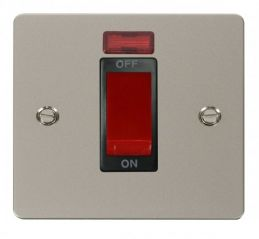 Scolmore Click Define FPPN201BK 1 Gang 45A DP Switch + Neon - Black