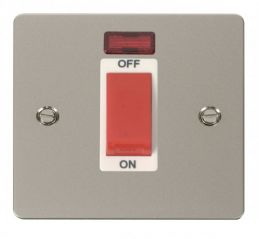 Scolmore Click Define FPPN201WH 1 Gang 45A DP Switch + Neon - White