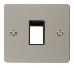 Scolmore Click Define FPPN401BK 1 Gang Plate Single Switch Aperture - Black