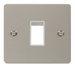 Scolmore Click Define FPPN401WH 1 Gang Plate Single Switch Aperture - White