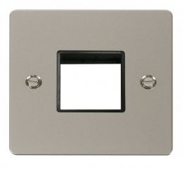Scolmore Click Define FPPN402BK 1 Gang Plate Twin Switch Aperture - Black