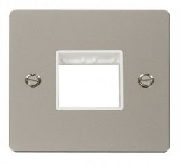 Scolmore Click Define FPPN402WH 1 Gang Plate Twin Switch Aperture - White