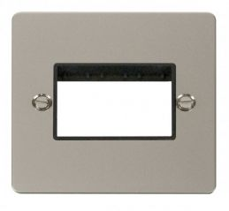 Scolmore Click Define FPPN403BK 1 Gang Plate Triple Switch Aperture - Black