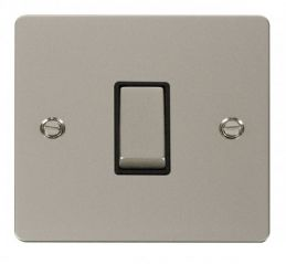 Scolmore Click Define FPPN411BK Ingot 10AX 1 Gang 2 Way Switch - Black
