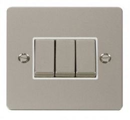 Scolmore Click Define FPPN413WH Ingot 10AX 3 Gang 2 Way Switch - White