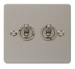 Scolmore Click Define FPPN422 10AX 2 Gang 2 Way Toggle Switch