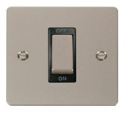 Scolmore Click Define FPPN500BK 1 Gang 45A Ingot DP Switch - Black