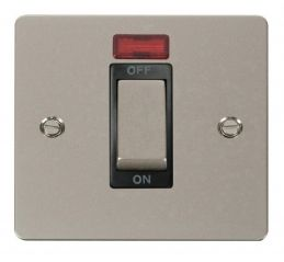 Scolmore Click Define FPPN501BK 1 Gang 45A Ingot DP Switch + Neon - Black