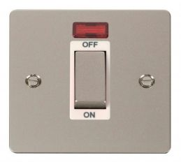 Scolmore Click Define FPPN501WH 1 Gang 45A Ingot DP Switch + Neon - White