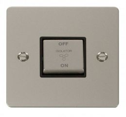 Scolmore Click Define FPPN520BK Ingot 10A 3 Pole Fan Isolation Switch - Black