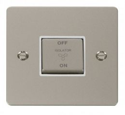Scolmore Click Define FPPN520WH Ingot 10A 3 Pole Fan Isolation Switch - White